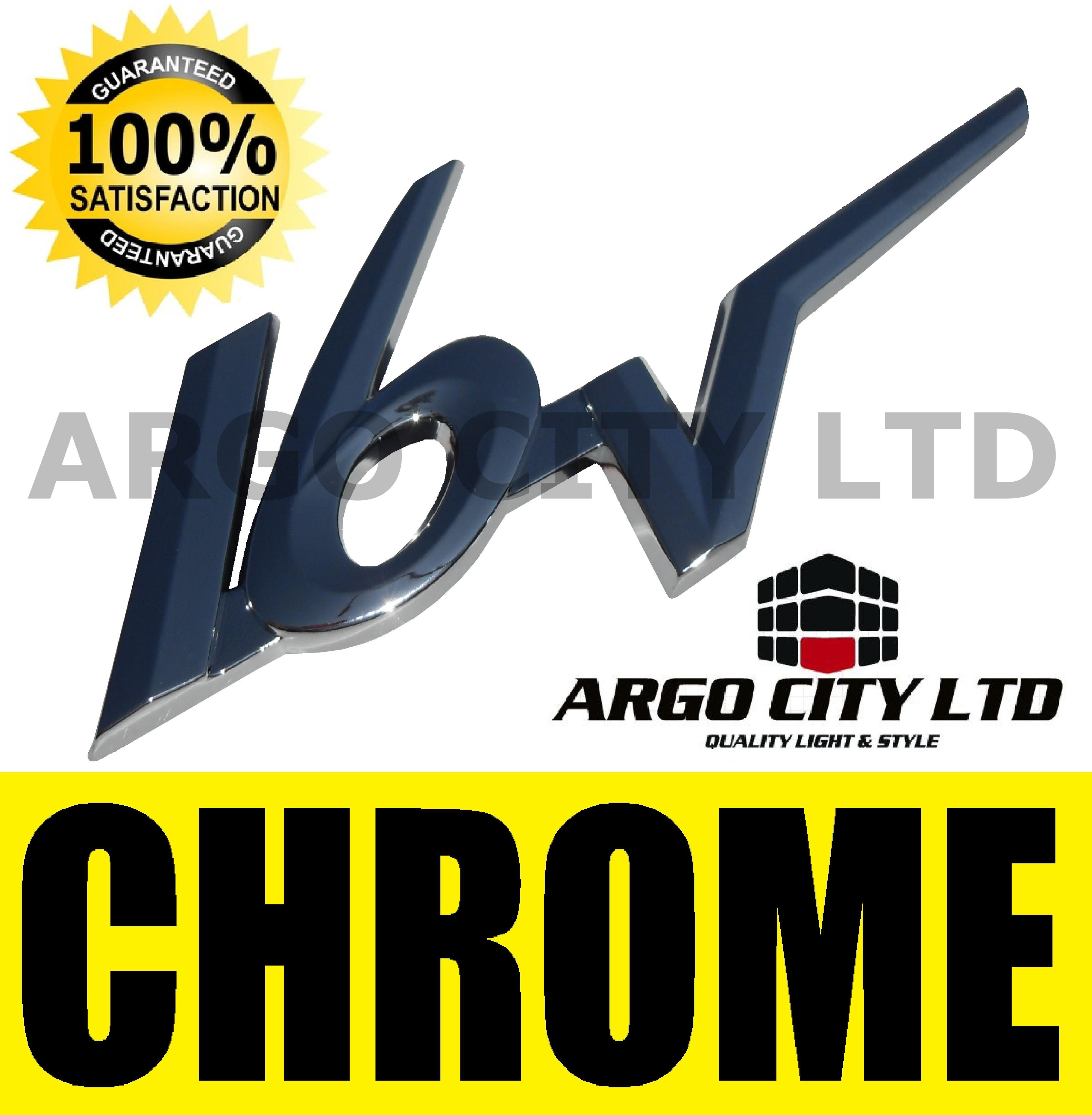 CHROME 16V BADGE SILVER 3D EMBLEM DECAL STICKER VAUXHALL ASTRA CONVERTIBLE
